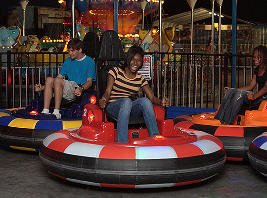 Bumper Cars at Party Central in Bossier, City